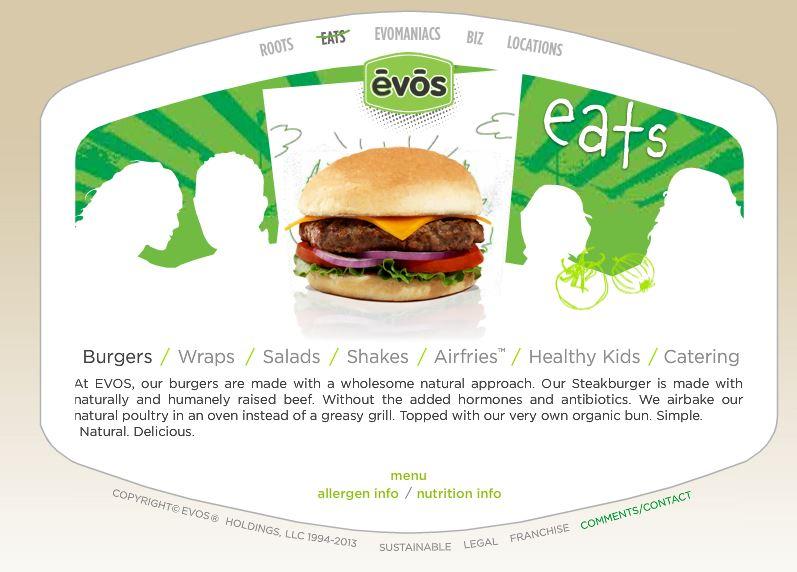Evos Food Menu
